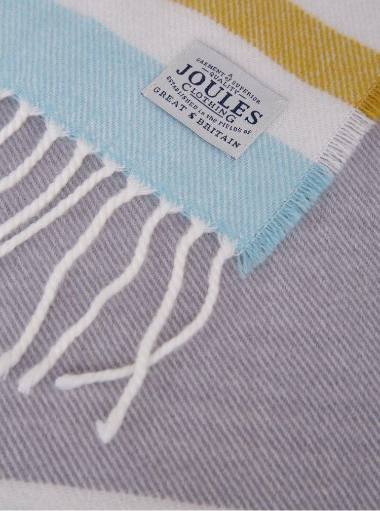 Žluto-šedá pruhovaná dámská šála Tom Joule Bracken