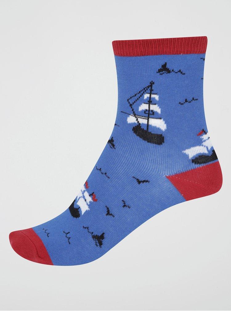 Tmavě modré klučičí ponožky s loděmi Sock It to Me Ship Shape