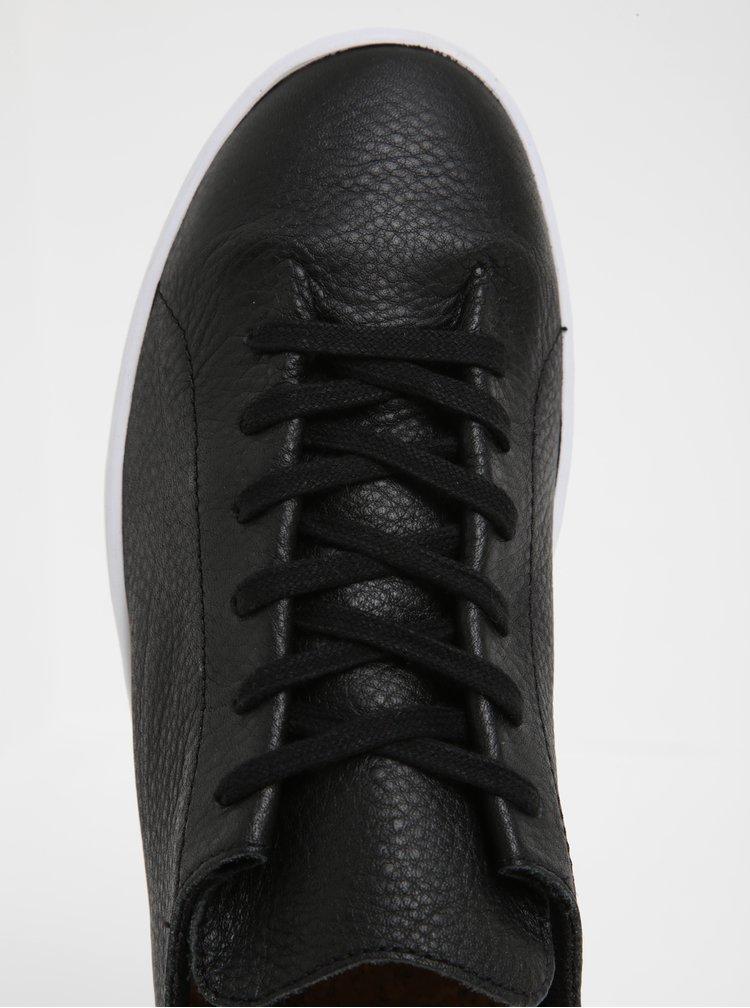 Černé dámské kožené tenisky Woden Jane II