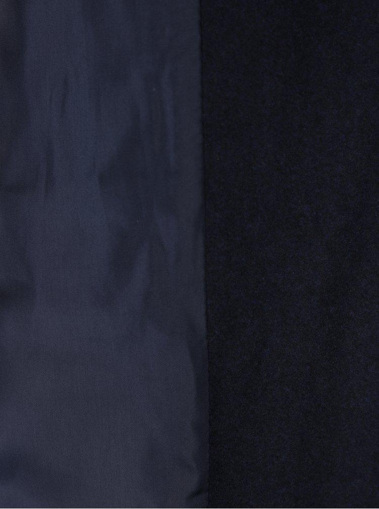 Tmavě modrý dlouhý kabát s páskem Noisy May Minna