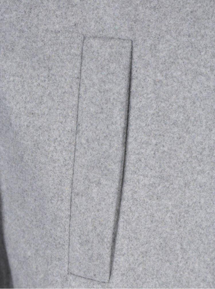 Světle šedý krátký kabát Noisy May Minna