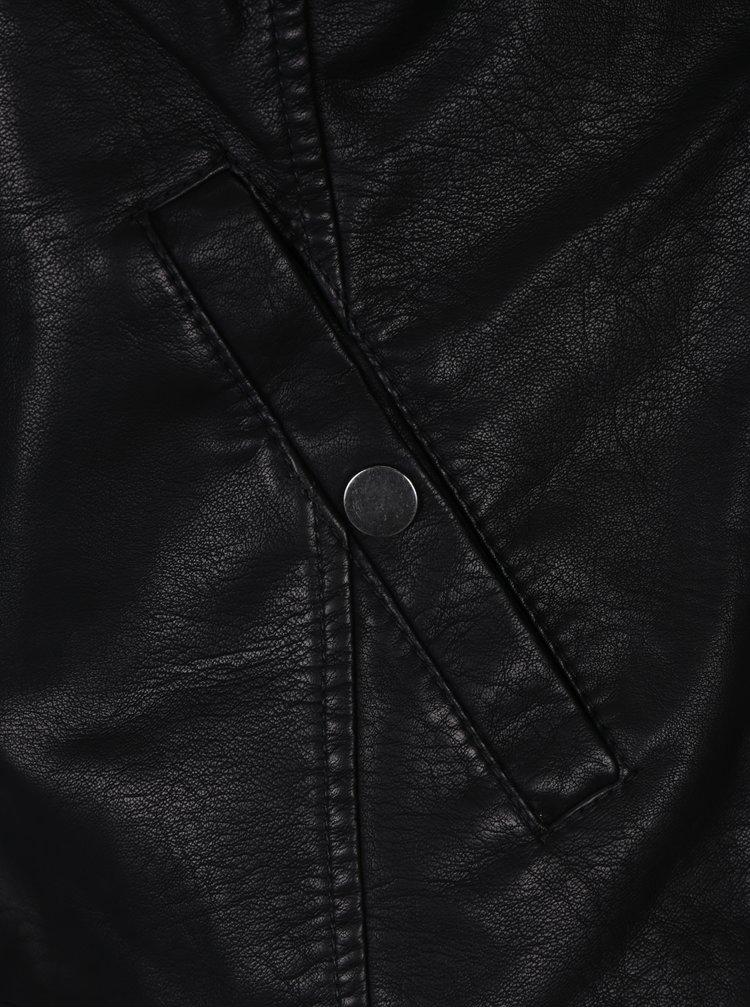 Černá koženková bunda VERO MODA Soffy