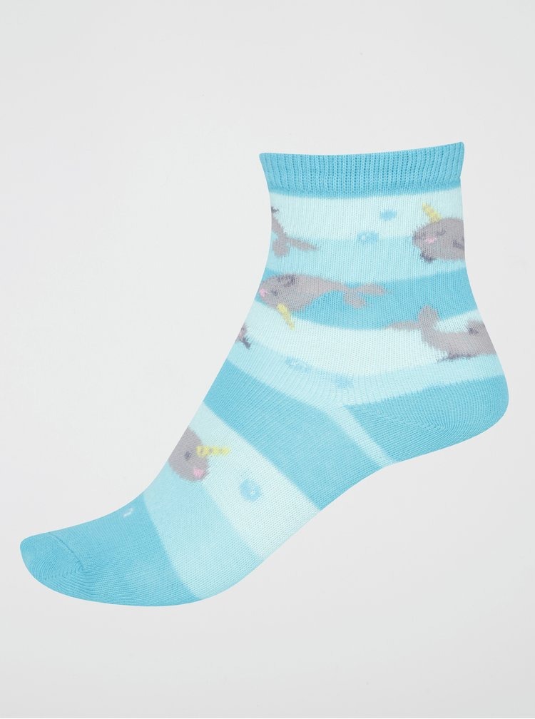 Modré klučičí ponožky s narvaly Sock It to Me Unicorn Of The Sea