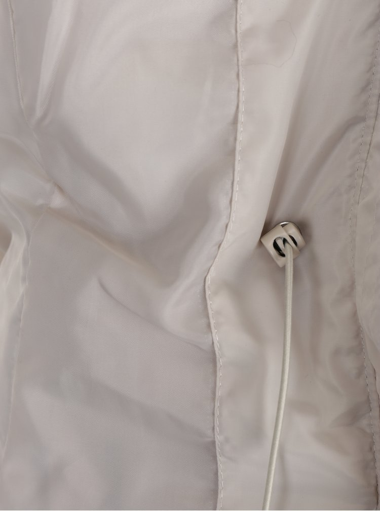 Krémová prošívaná bunda s umělým kožíškem VERO MODA Fast