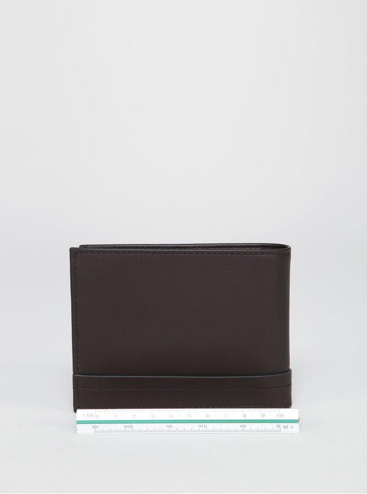Tmavě hnědá pánská kožená peněženka Calvin Klein Jeans Elias