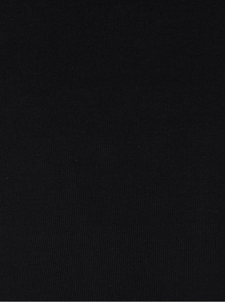 Rochie pulover neagra cu maneci lunga Yest