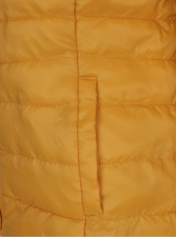 Žlutá prošívaná bunda s kapucí ONLY Tahoe