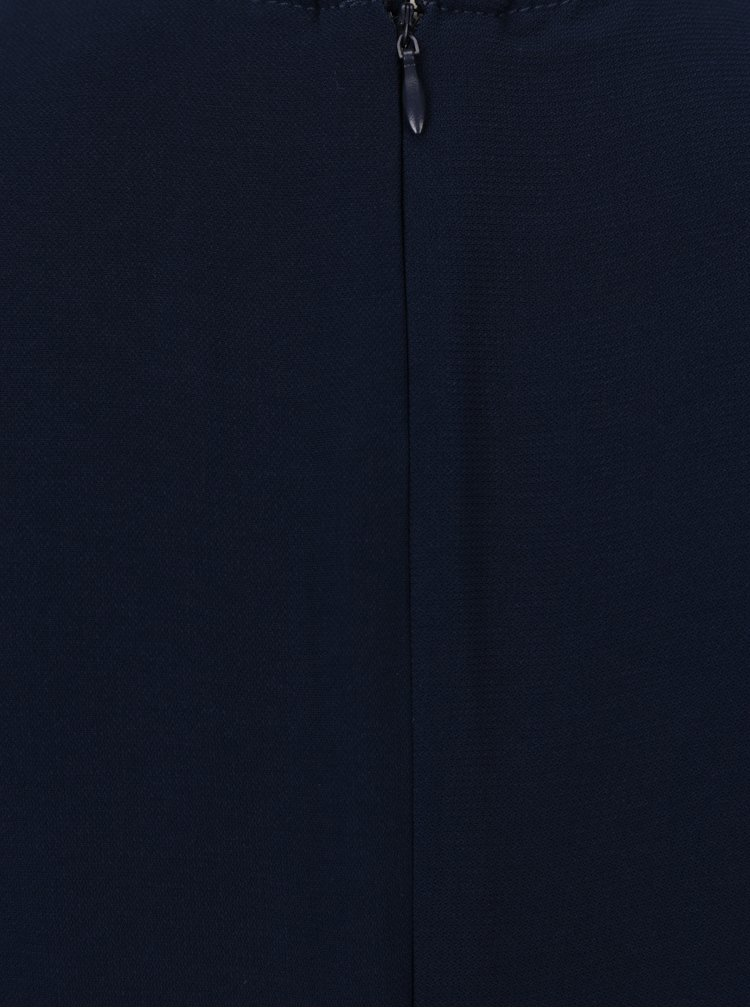 Rochie bleumarin cu pliuri asimetrice  - VERO MODA Nice