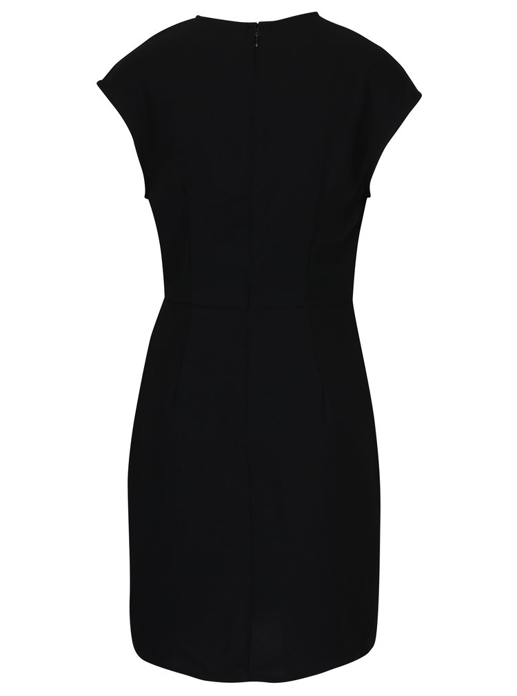 Černé šaty s řasením na boku VERO MODA Nice