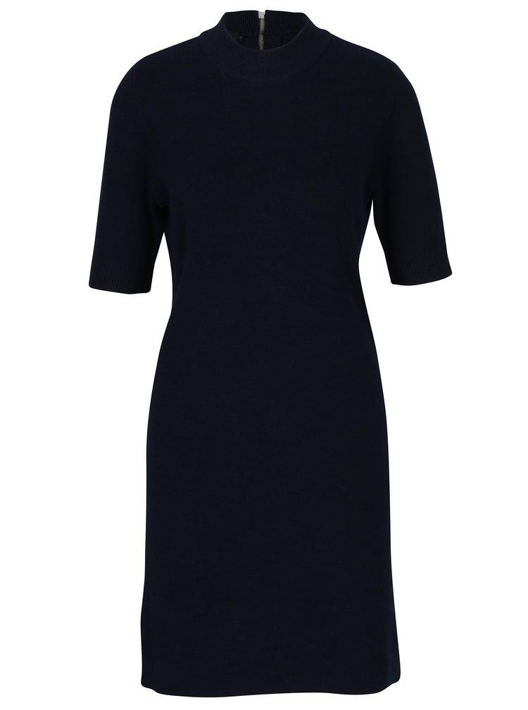 Tmavě modré svetrové šaty s krátkým rukávem VERO MODA Barstow