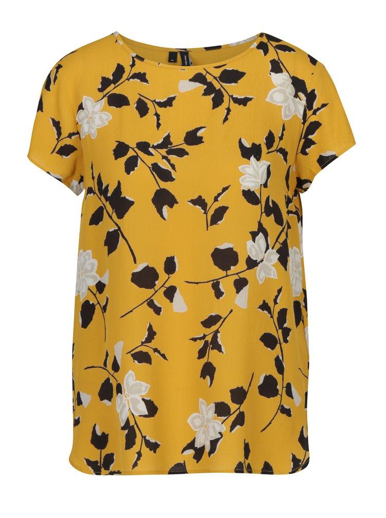 Žlutá květovaná halenka VERO MODA Alissa