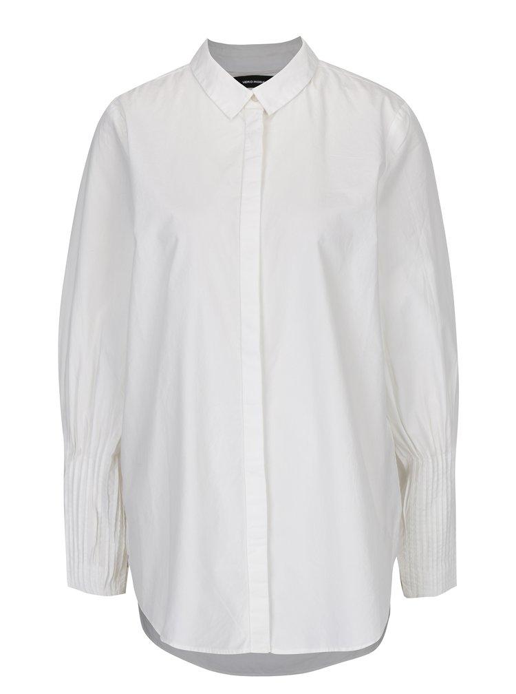 Krémová košile s dlouhým skládaným rukávem VERO MODA Thea