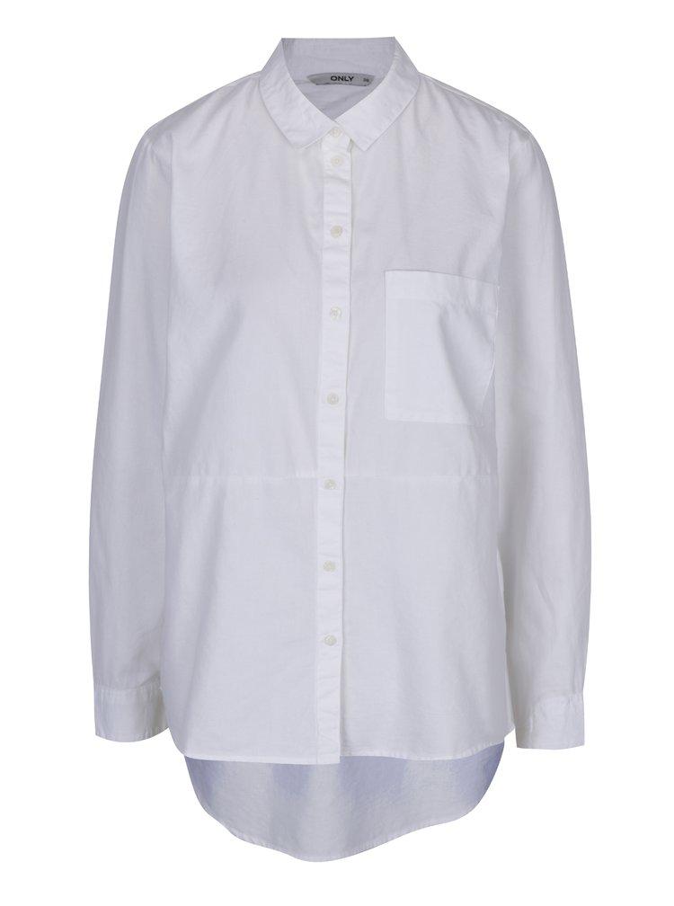 Camasa alba asimetrica  pentru femei- ONLY Laurette