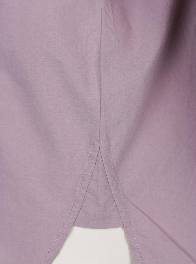 Světle fialová košile s dlouhým skládaným rukávem VERO MODA Thea