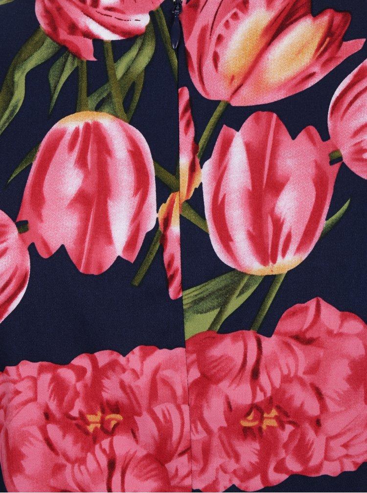 Rochie bleumarin cu imprimeu floral - Dolly & Dotty Annie
