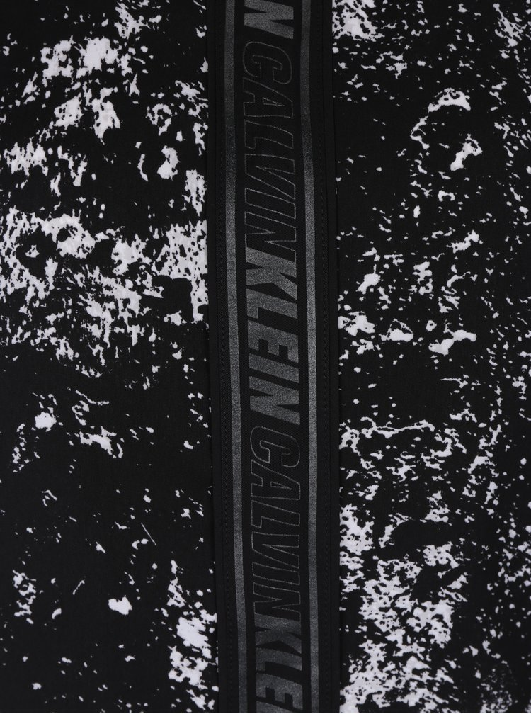 Černo-bílý dámský vzorovaný top bez rukávů Calvin Klein Jeans Westa