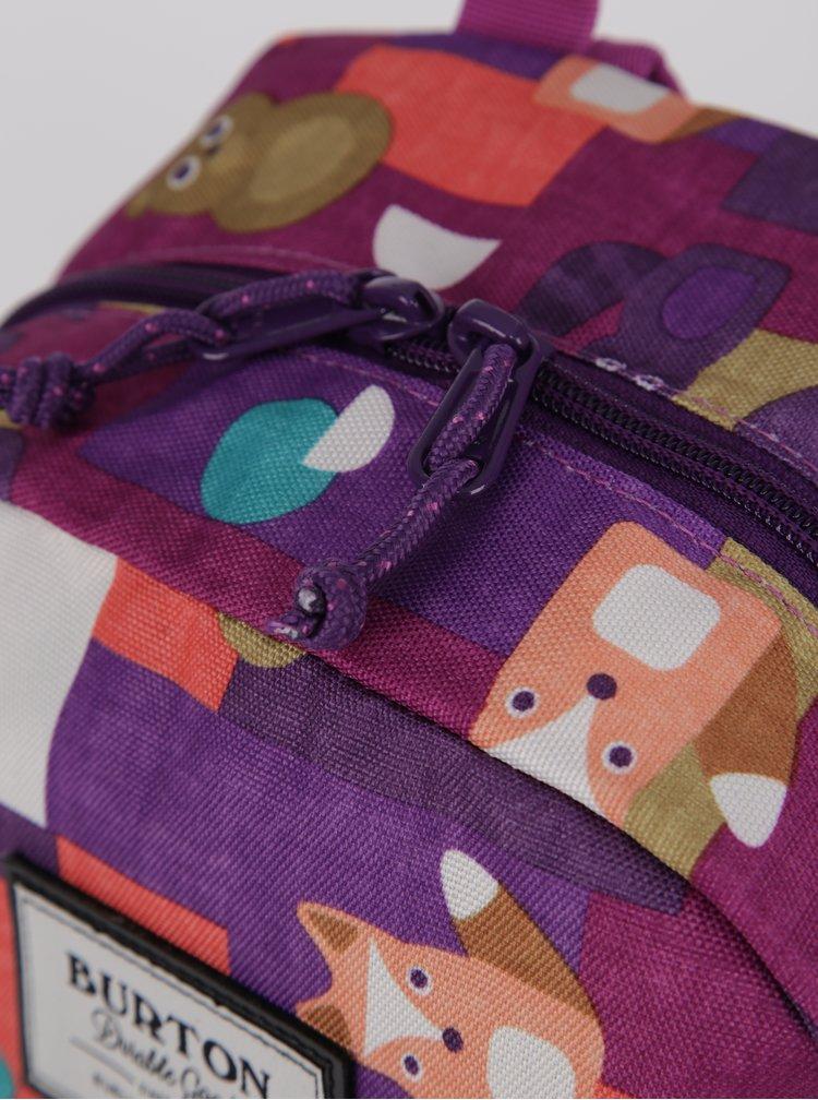 Fialový dětský vzorovaný batoh s motivem zvířat Burton Gromlet 15 l