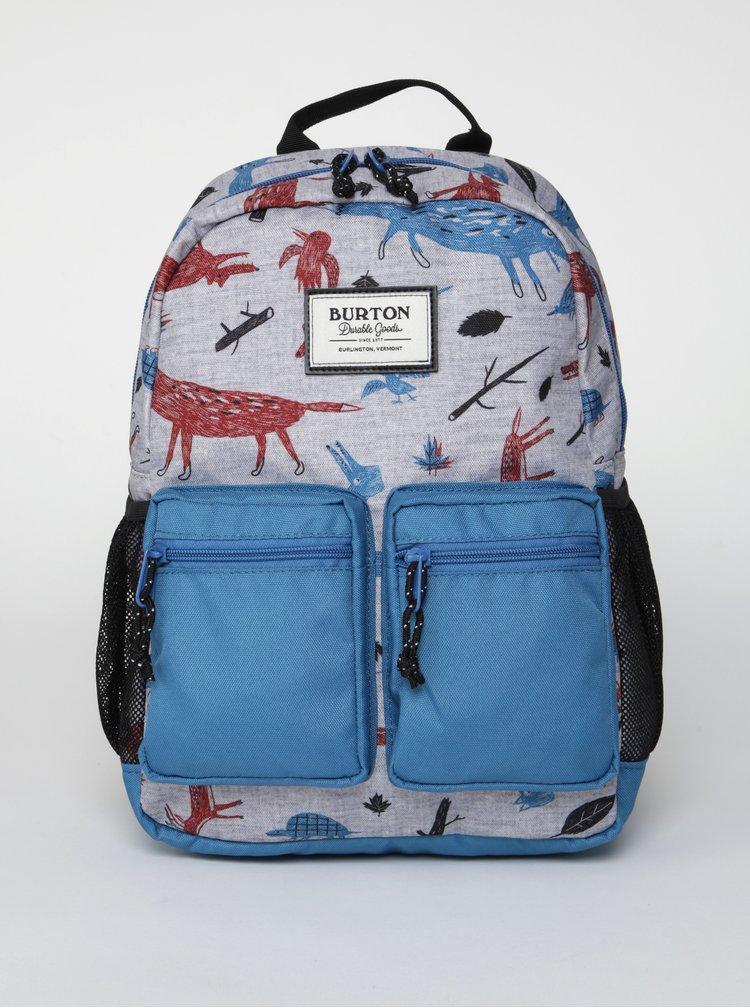 Modro-šedý dětský batoh s motivem zvířat Burton Gromlet 15 l