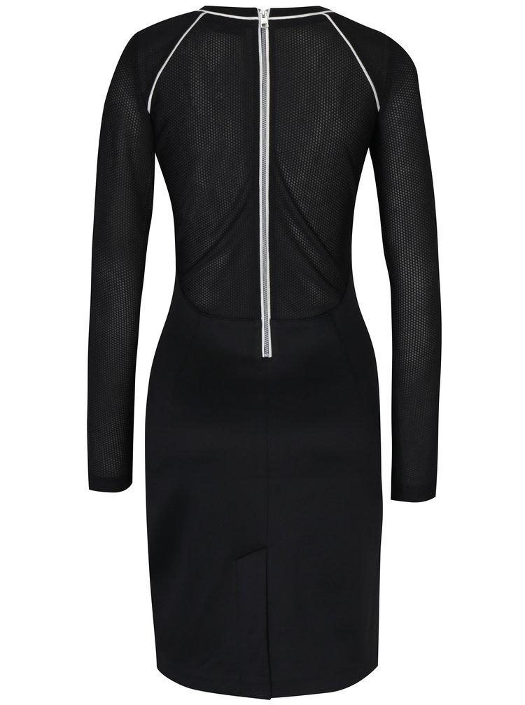 Černé šaty s bílým lemem Calvin Klein Jeans Devyn