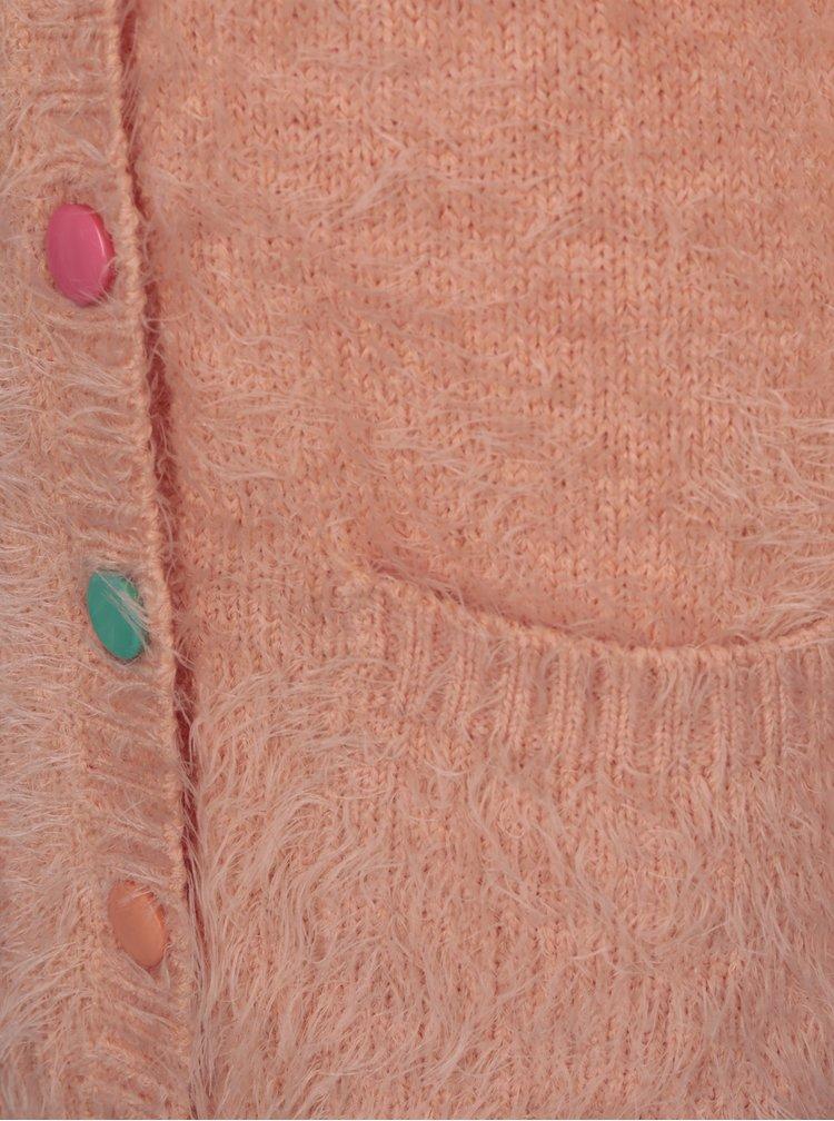 Meruňkový holčičí propínací kardigan 5.10.15.