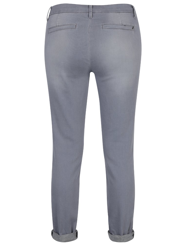 Šedé chino kalhoty YAYA