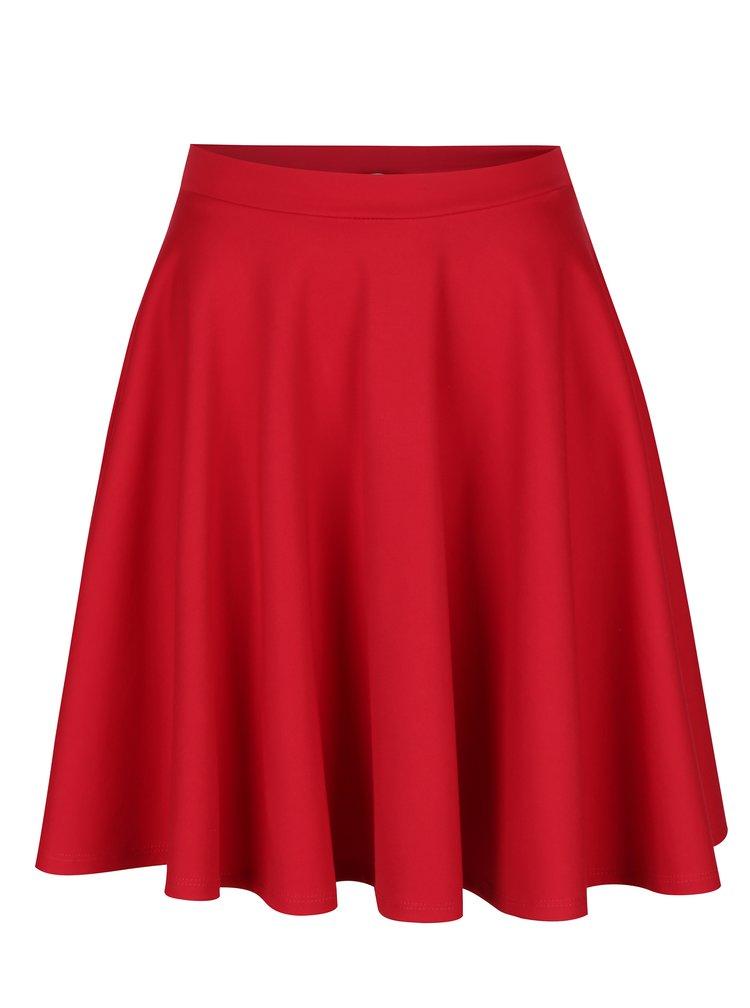 Červená kolová sukně s kapsami ZOOT