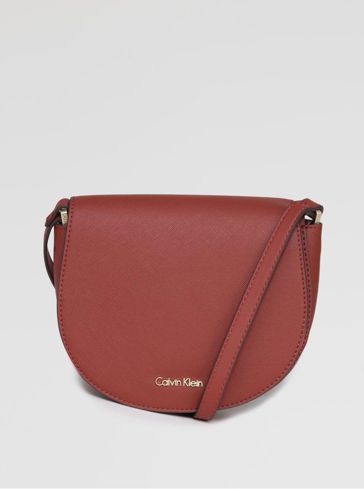 Cihlová crossbody kabelka Calvin Klein Jeans Marissa
