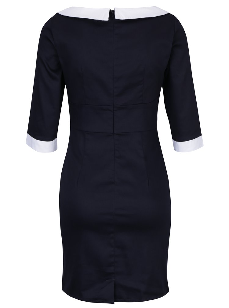 Tmavě modré pouzdrové šaty Dolly & Dotty Prudence