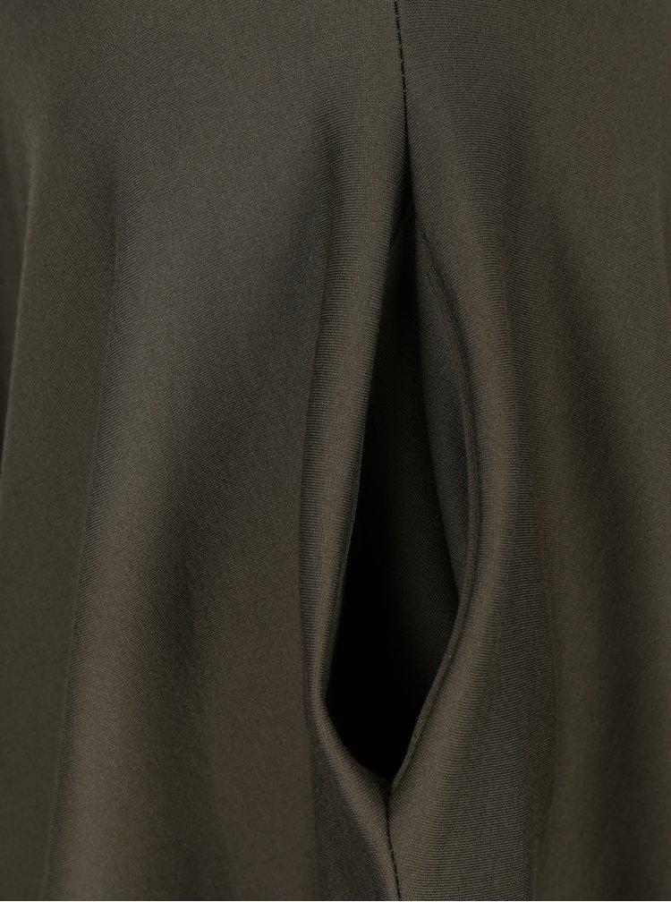 Khaki kolová sukně s kapsami ZOOT