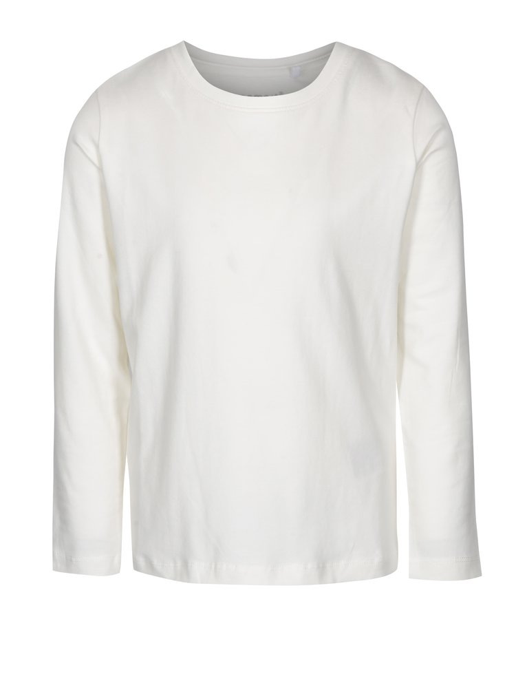 Krémové klučičí tričko s dlouhým rukávem name it Villum