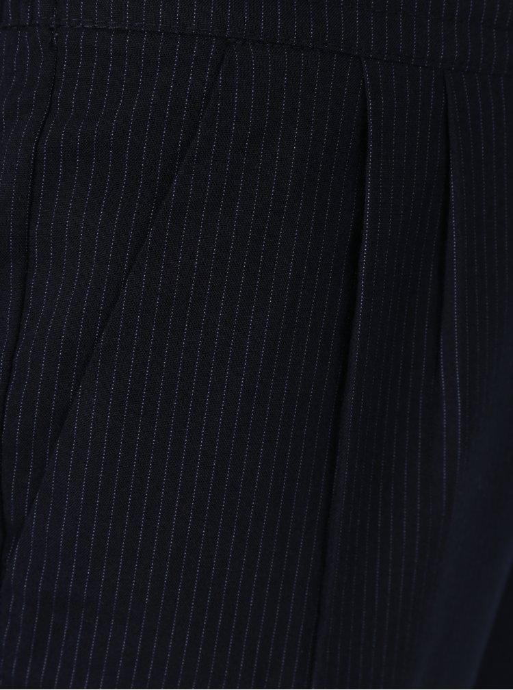 Tmavě modré volné pruhované kalhoty ONLY Sophie