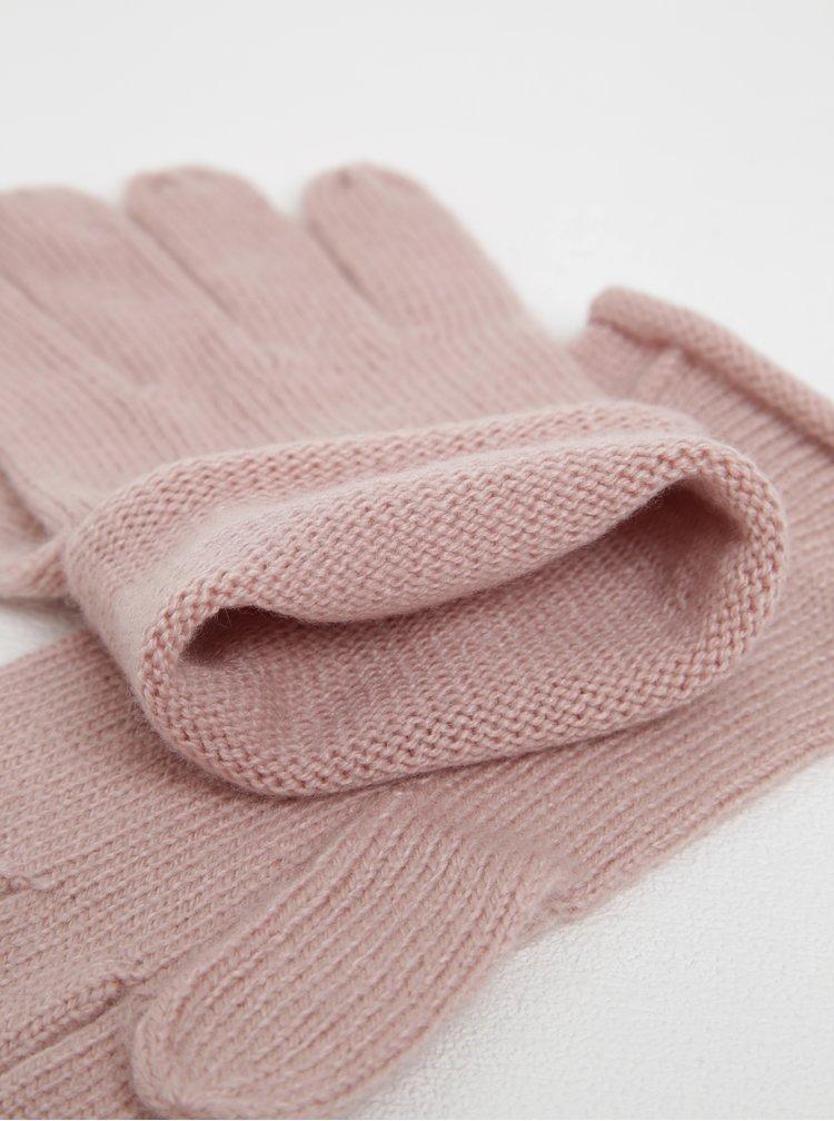 Růžové rukavice Selected Femme Leilana