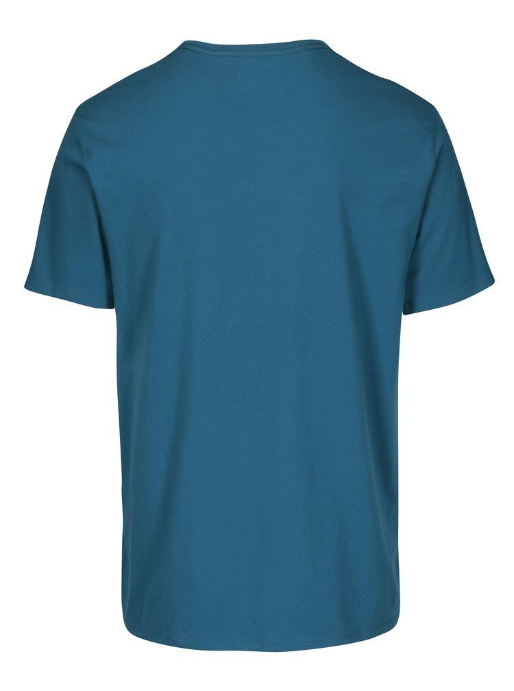 Tricou albastru petrol cu print O'Neill
