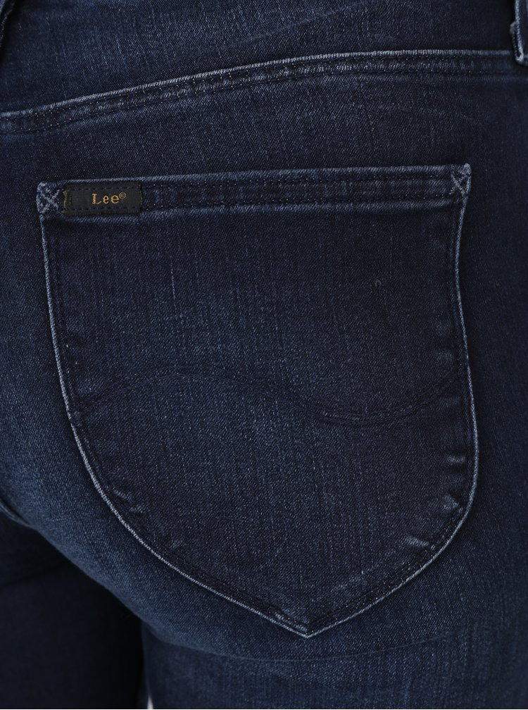 Tmavě modré dámské super skinny džíny Lee