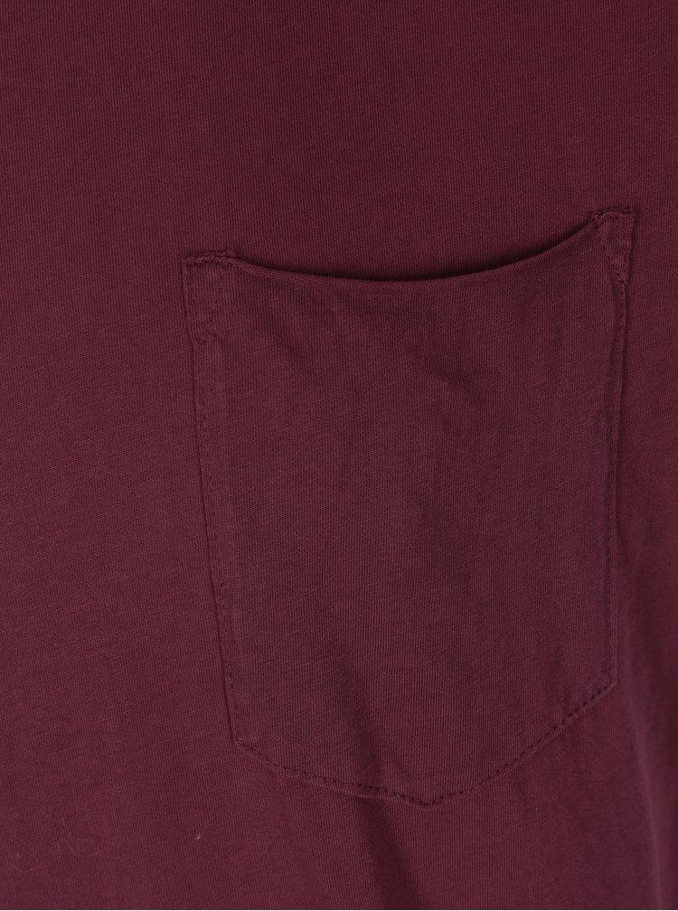 Vínové tričko s vreckom Shine Original Andy