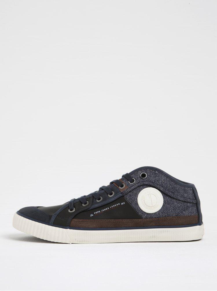 Pantofi sport negru albastru pentru barbati  Pepe Jeans Industry