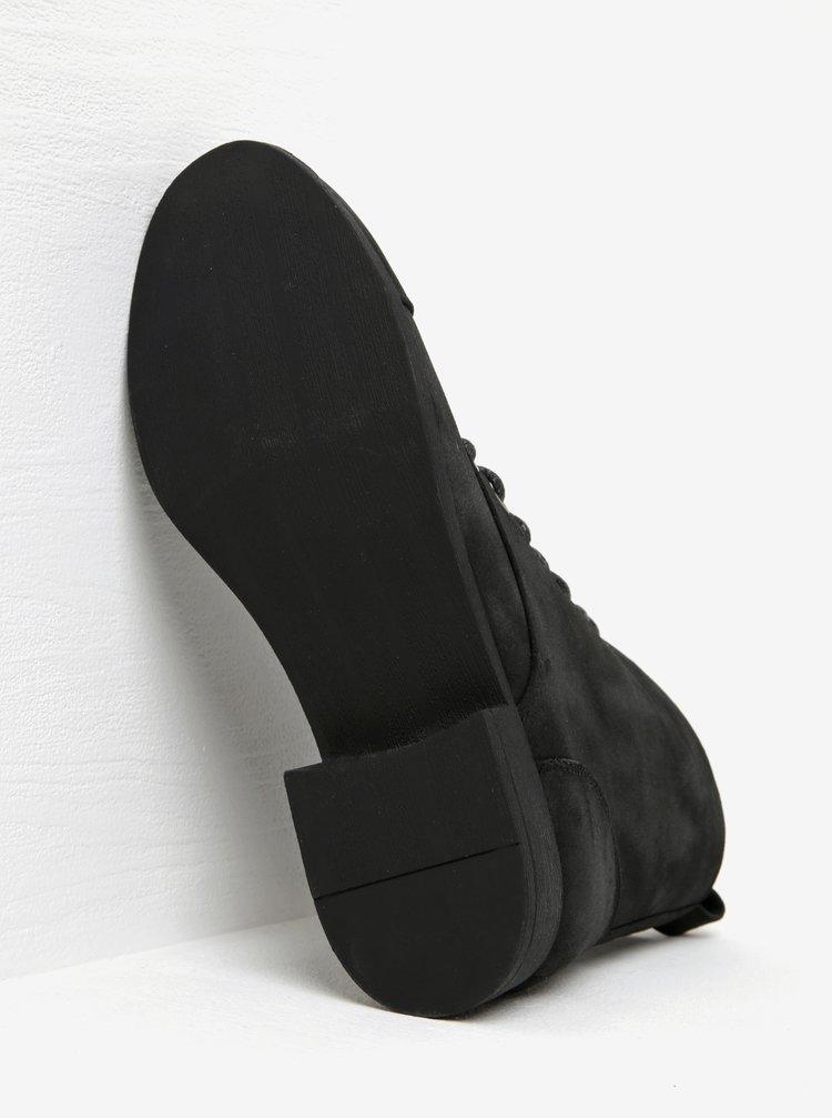 Černé kotníkové boty Pieces Porcia