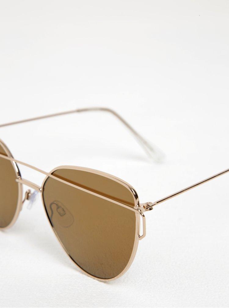 Dámské sluneční brýle ve zlaté barvě Pieces Reese