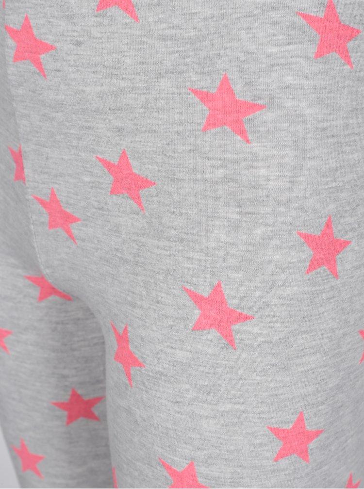 Šedé holčičí legíny s motivem hvězd 5.10.15.