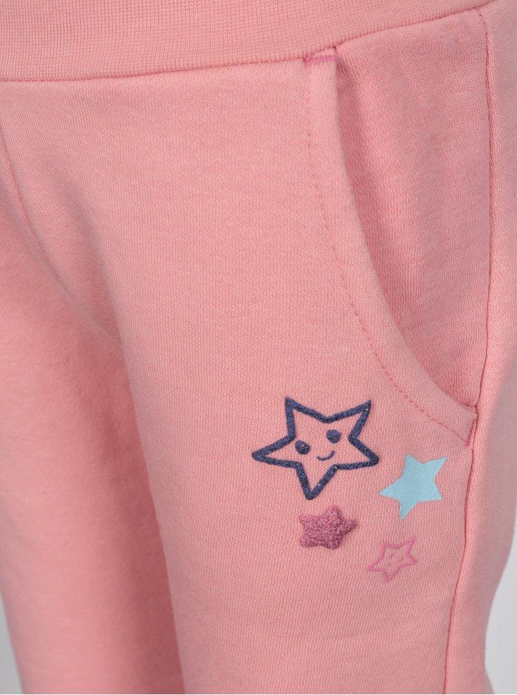 Růžové holčičí tepláky s motivem hvězd 5.10.15.