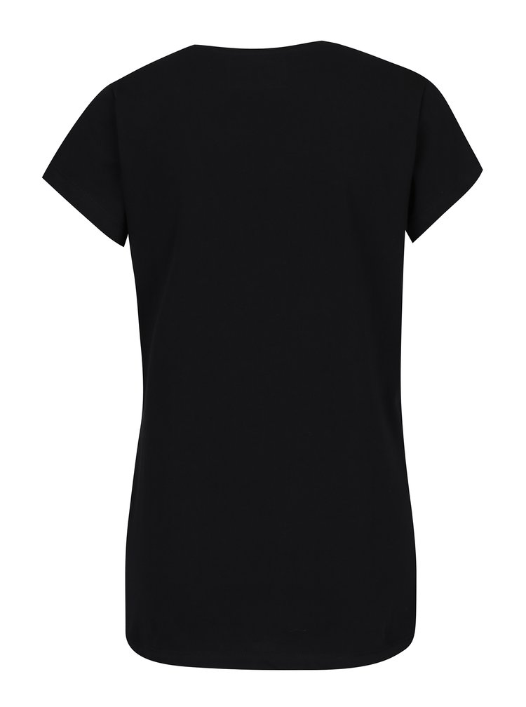 Černé dámské tričko s krátkým rukávem a potiskem Cars Noir
