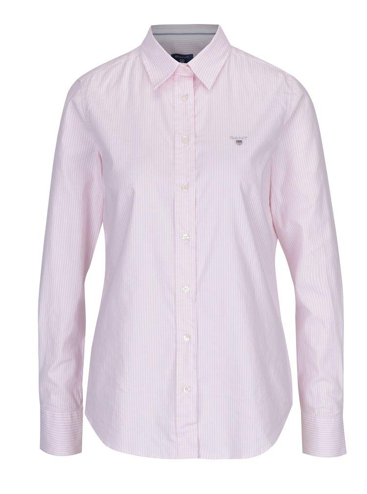 Bílo-růžová dámská pruhovaná košile GANT