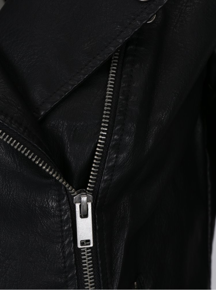 Černý koženkový křivák Noisy May Rebel