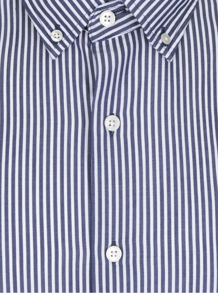 Bílo-modrá pánská pruhovaná regular fit košile GANT