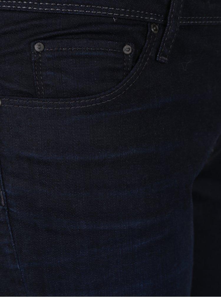 Tmavě modré regular skinny džíny ONLY Carmen