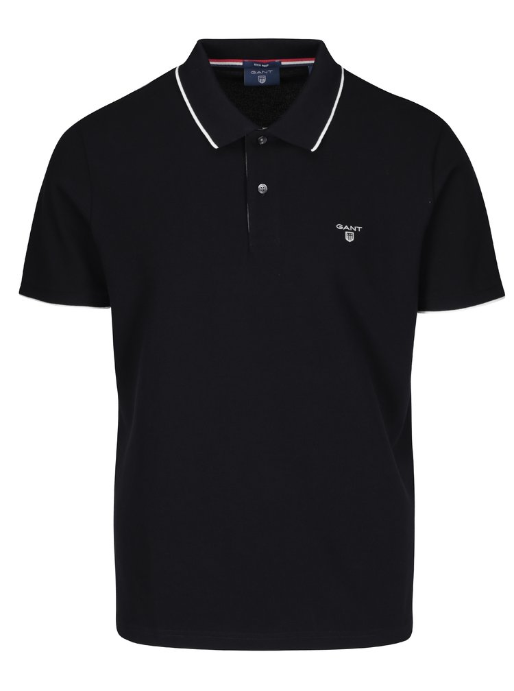 Černé pánské polo tričko GANT
