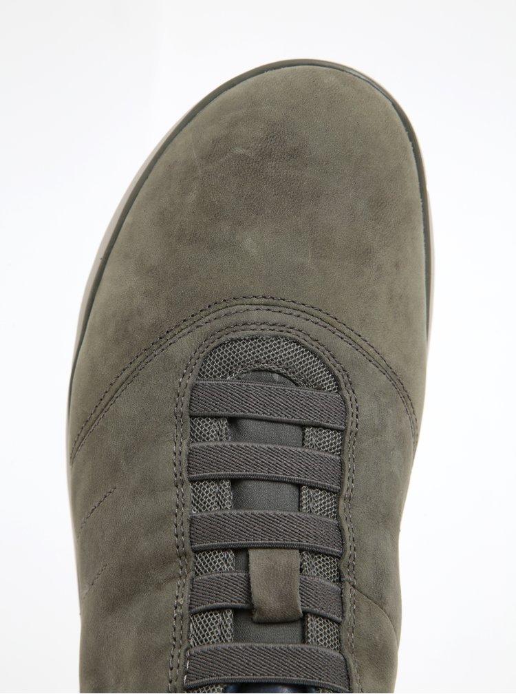 Pantofi sport din piele întoarsă gri Geox Nebula F