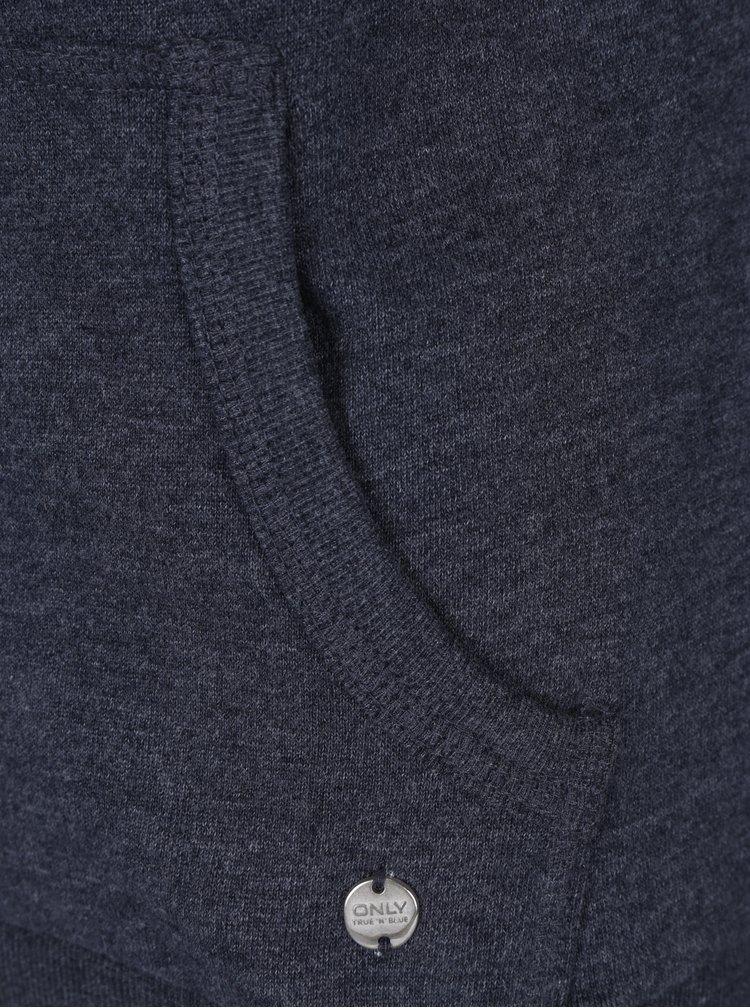 Hanorac albastru cu gluga si buzunare -  ONLY Coolie
