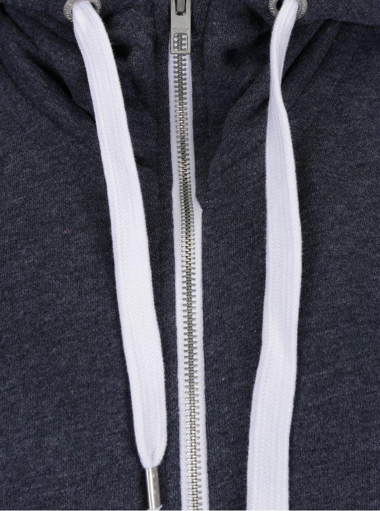 Sivomodrá melírovaná mikina na zips ONLY Coolie