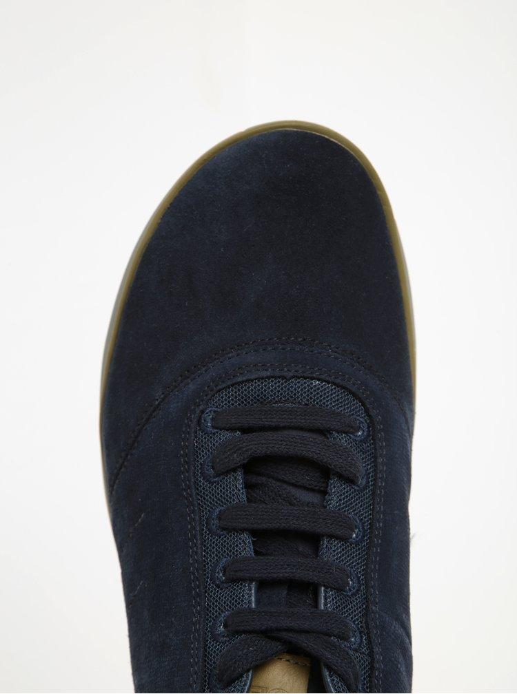 Pantofi sport bleumarin din piele intoarsa Geox Nebula F